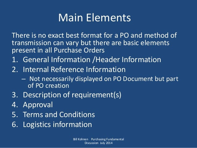 Purchase Order Creation Basic Information Needed to Optimize Total – Best Purchase Order Format