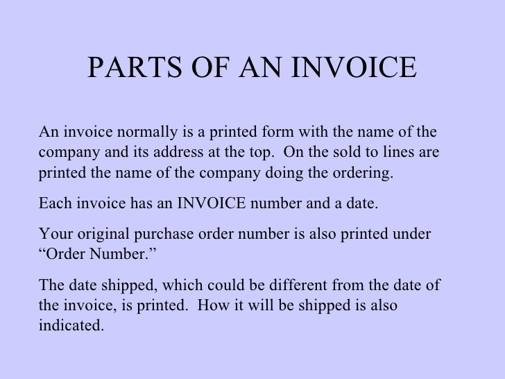 Purchase Order  Invoices