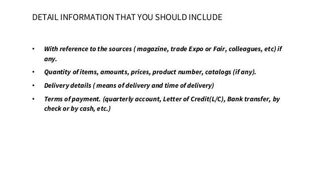 Bussiness English BAB Purchase order letter – Purchase Order Letter Template