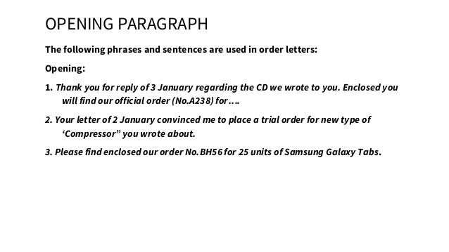 Bussiness English BAB Purchase order letter