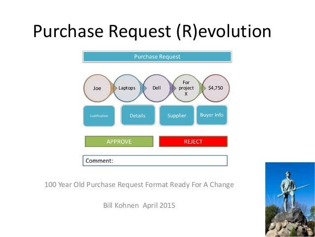 Purchase Request R Evolution