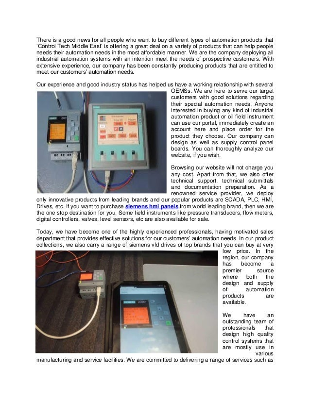 Purchase Top Quality Siemens HMI Panels And VFD Online