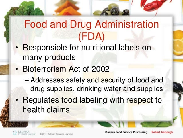 The Fda Regulates All Health Claims On Food Products