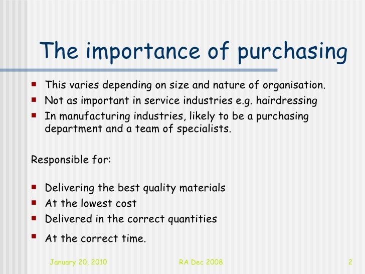 purchasing department definition