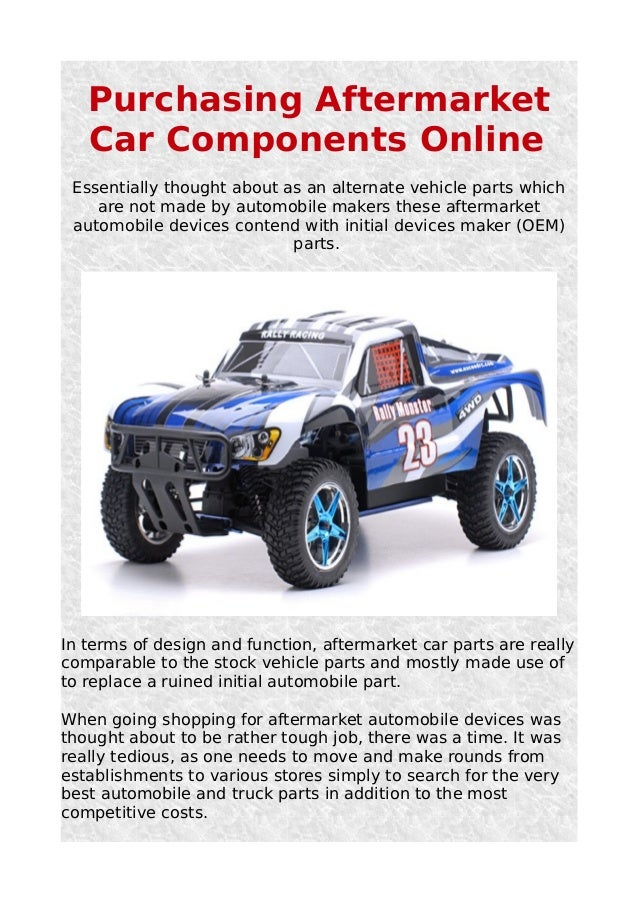 Purchasing aftermarket car components online