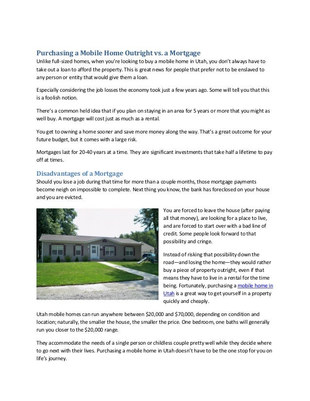 Purchasing a Mobile Home Outright vs. a Morte on constructing a home, building a home, renovating a home, manufacturing a home, pricing a home, selling a home, owning a home, renting a home, designing a home, having a home, selecting a home, buying a home, finding a home, inventory a home, making a home, transport a home, design a home, choosing a home, creating a home,