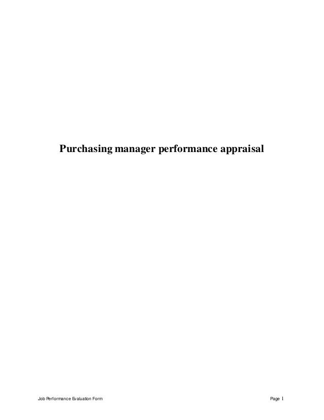 doc 460595 purchasing manager job description