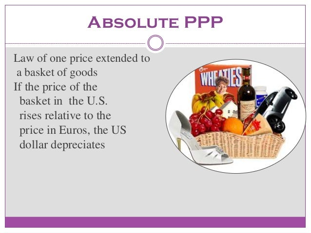purchasing power parity ppp theory and exchange rates Summary: by philip pilkington article of the week from fixing the economists there is a theory that floats around out there called the 'purchasing power parity theory of the exchange rate'.