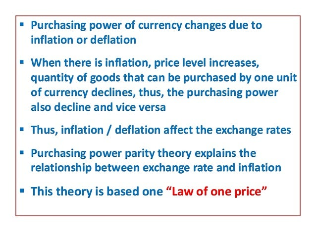purchasing power parity theory diagram