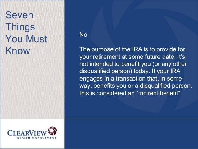 Can I Sell My Property To My Ira