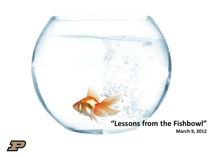 """""""Lessons from the Fishbowl""""                  March 9, 2012"""