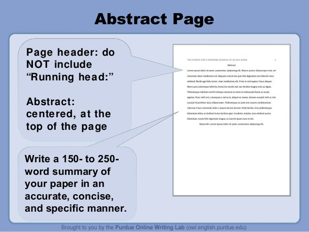 apa style cover page format