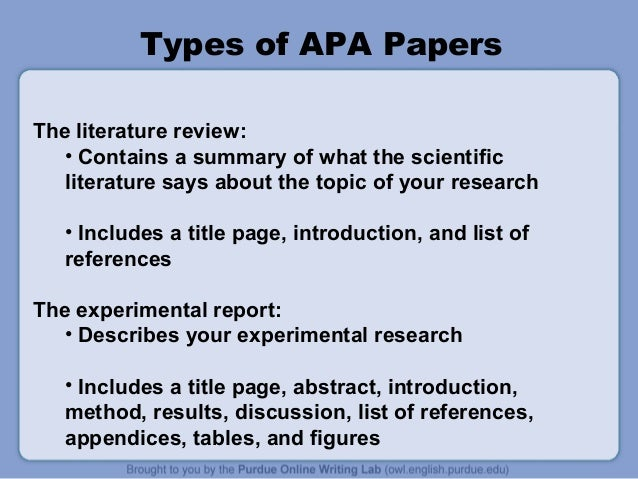 apa style lab reports