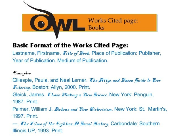 Purdue owl mla format cited page the basics 29 ccuart Choice Image