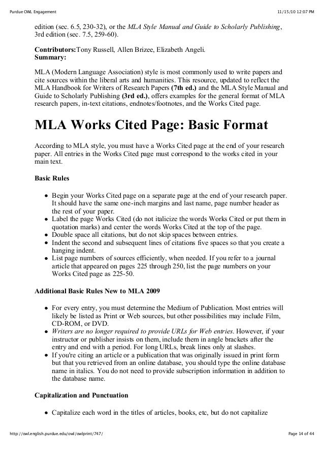 mla research paper examples