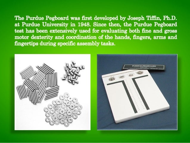 purdue pegboard test instruction manual
