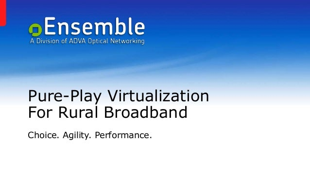 Pure-Play Virtualization For Rural Broadband Choice. Agility. Performance.