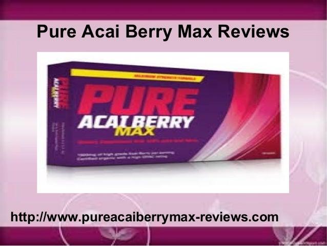 Pure acai berry max reviews