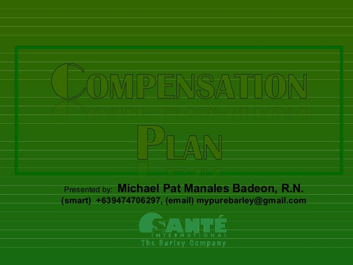 Presented by:   Michael Pat Manales Badeon, R.N.(smart) +639474706297, (email) mypurebarley@gmail.com