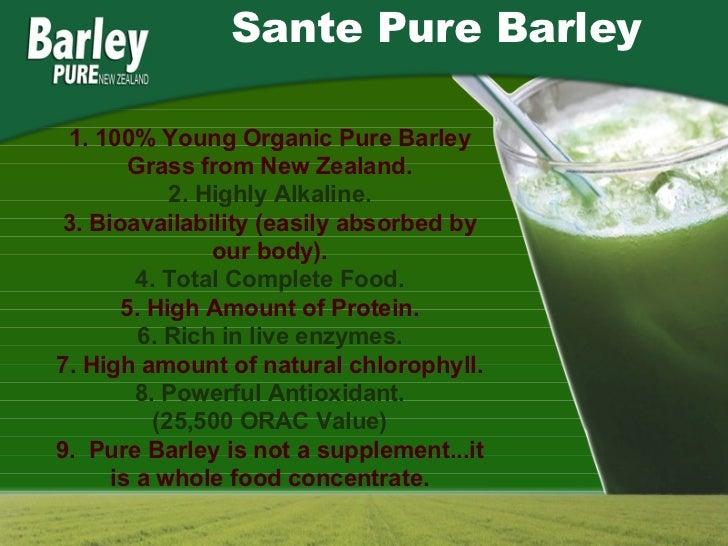 Sante barley business presentation 2016 military