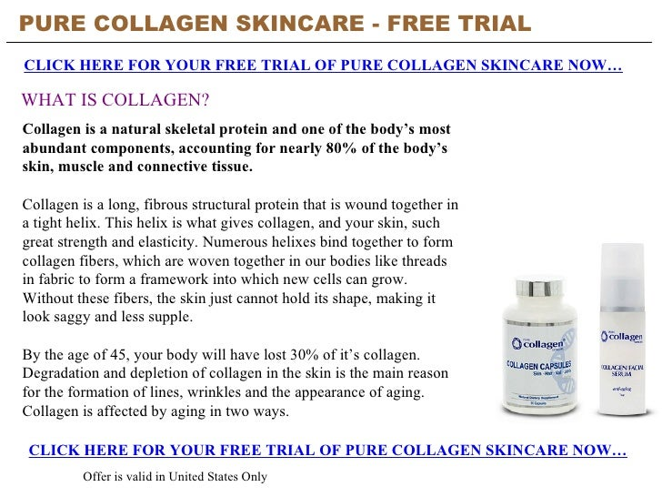 PURE COLLAGEN SKINCARE - FREE TRIAL   CLICK HERE FOR YOUR FREE TRIAL OF PURE COLLAGEN SKINCARE NOW… CLICK HERE FOR YOUR FR...