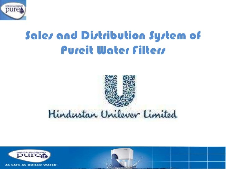 Sales and Distribution System of Pureit Water Filters <br />