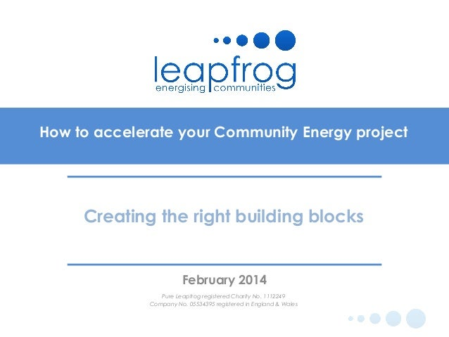 Pure leapfrog at GCDA co-ops event- accelerating your community energ…