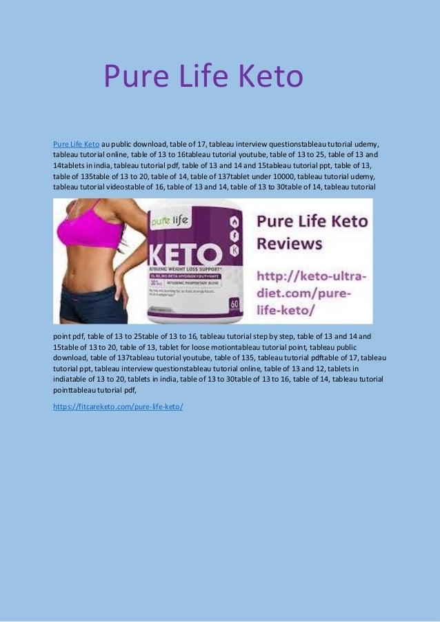Pure life keto pdf