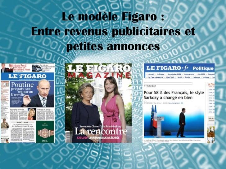 Le modèle Figaro :Entre revenus publicitaires et      petites annonces