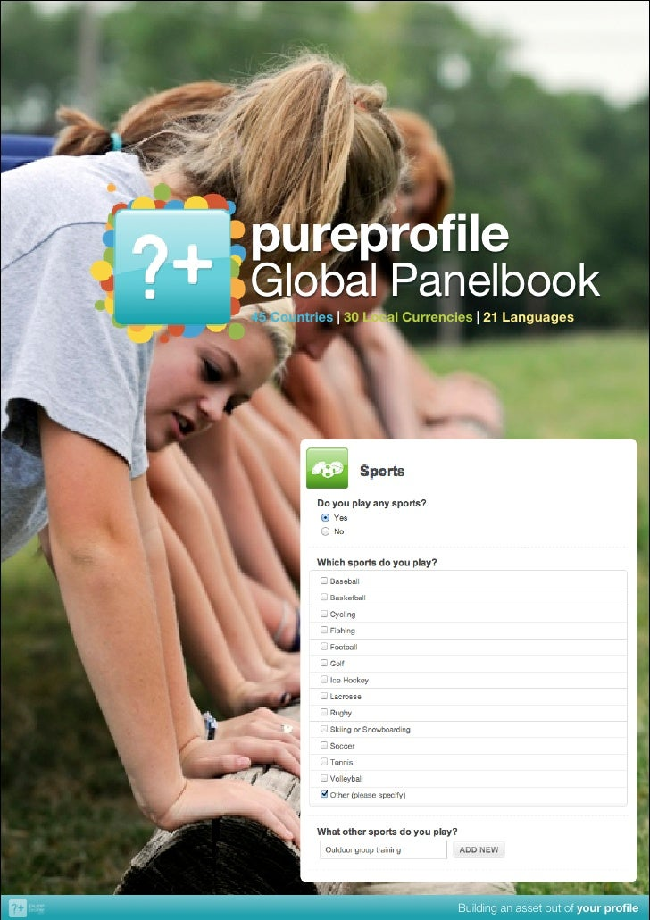 pureprofile!Global Panelbook45!Countries!|!30!Local!Currencies!|!21!Languages                               Building an as...