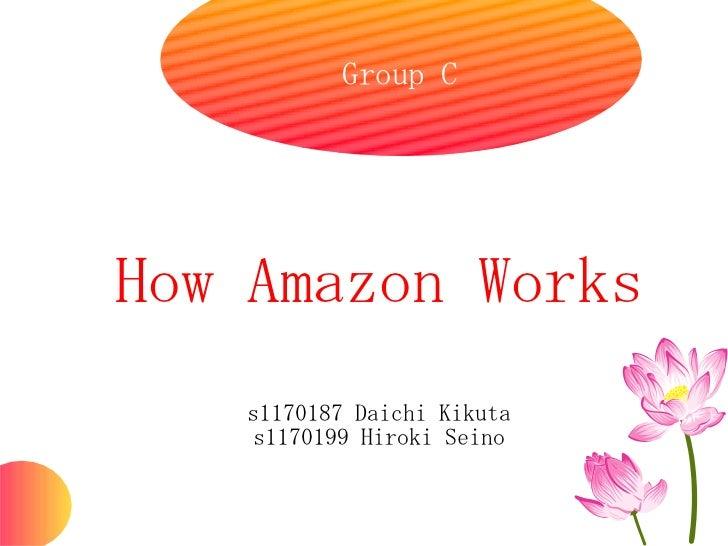Group CHow Amazon Works    s1170187 Daichi Kikuta     s1170199 Hiroki Seino