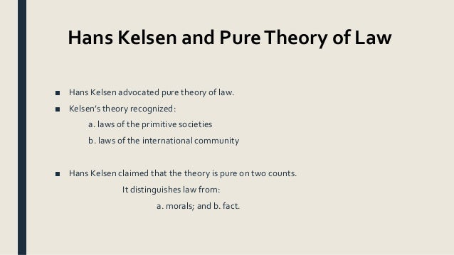 kelson theory of law summary
