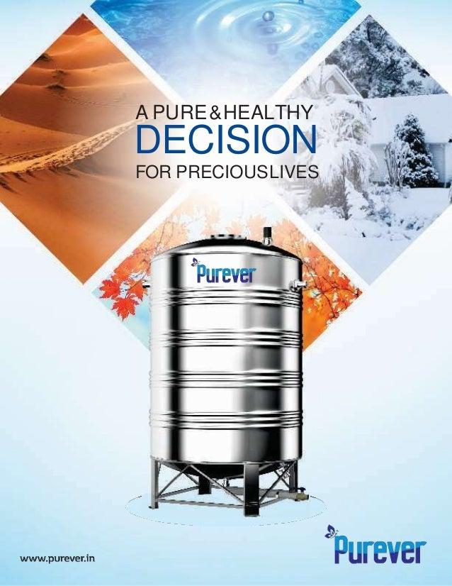 A PURE&HEALTHY DECISION FOR PRECIOUSLIVES