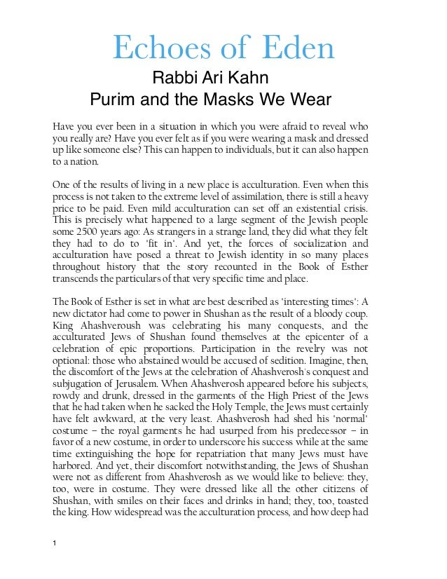purim and the masks we wear echoes of eden rabbi ari kahn purim and the masks we wear have you ever been