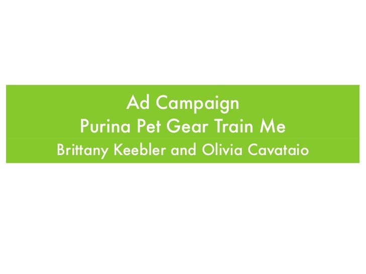 Ad Campaign   Purina Pet Gear Train MeBrittany Keebler and Olivia Cavataio