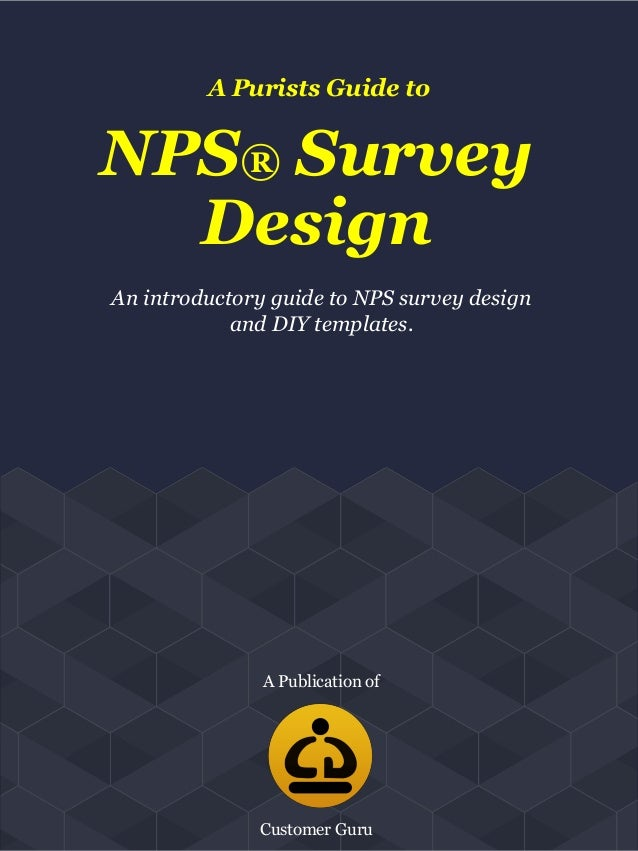 a purists guide to nps survey design