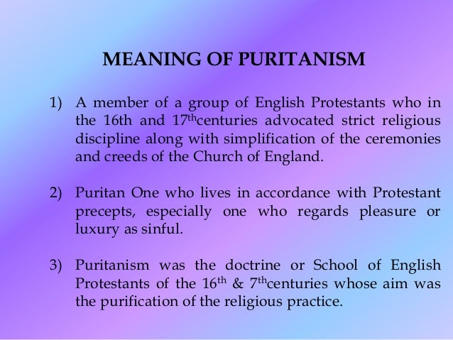 puritans protestants who purified the wrongdoings The criminal prosecution and capital punishment of  of noxious vermin or for the criminal prosecution and capital punishment of  by protestants,.