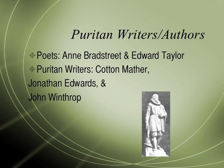 puritan literature authors