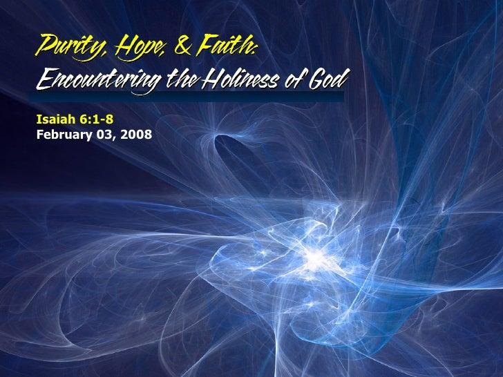 Isaiah 6:1-8 February 03, 2008