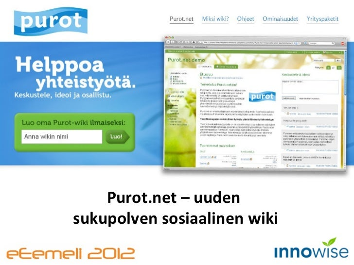 Purot.net – uuden  sukupolven sosiaalinen wiki