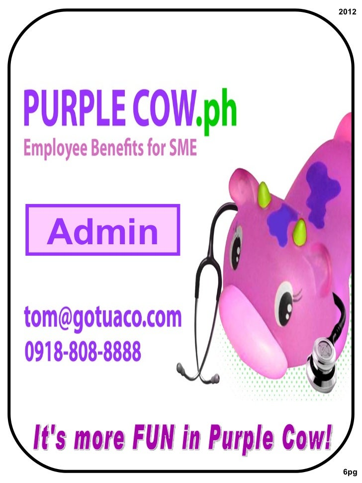 It's more FUN in Purple Cow! Admin 2012 6pg