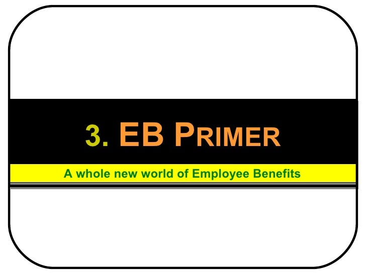 3.   EB   P RIMER A whole new world of Employee Benefits