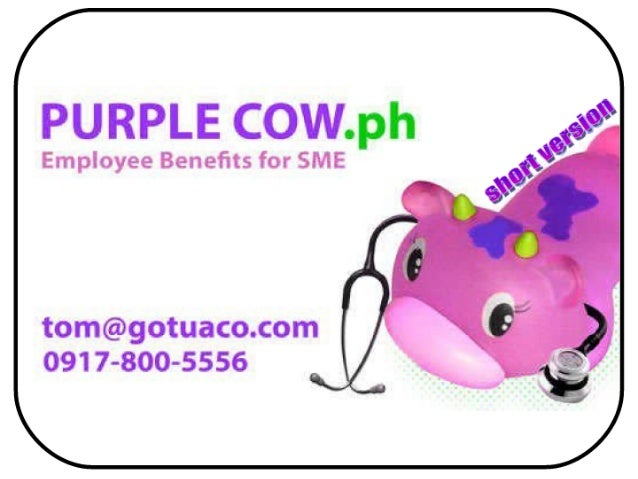 Purple cow employee benefits for sme   2011 (short version)