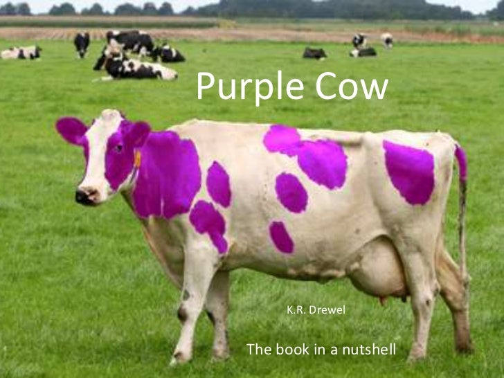 Purple Cow       K.R. Drewel  The book in a nutshell