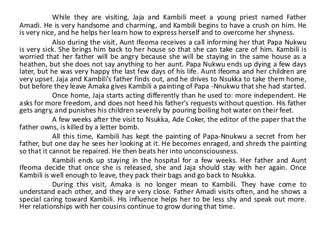 Luminous Reflections The Character Of Father Amadi By Navya