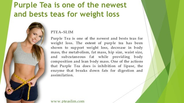 Purple Tea is one of the newest and bests teas for weight loss PTEA–SLIM Purple Tea is one of the newest and bests teas fo...