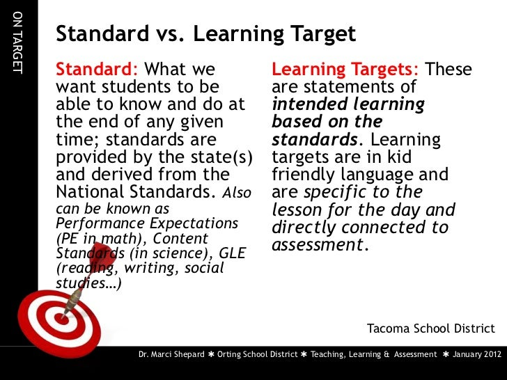 Purpose: Teaching with Effective Learning Targets and Success Criteria
