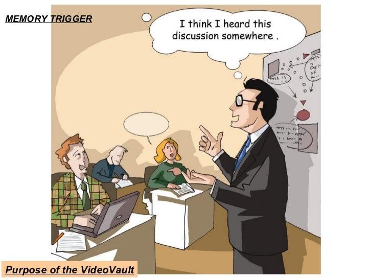 MEMORY TRIGGER Purpose of the VideoVault