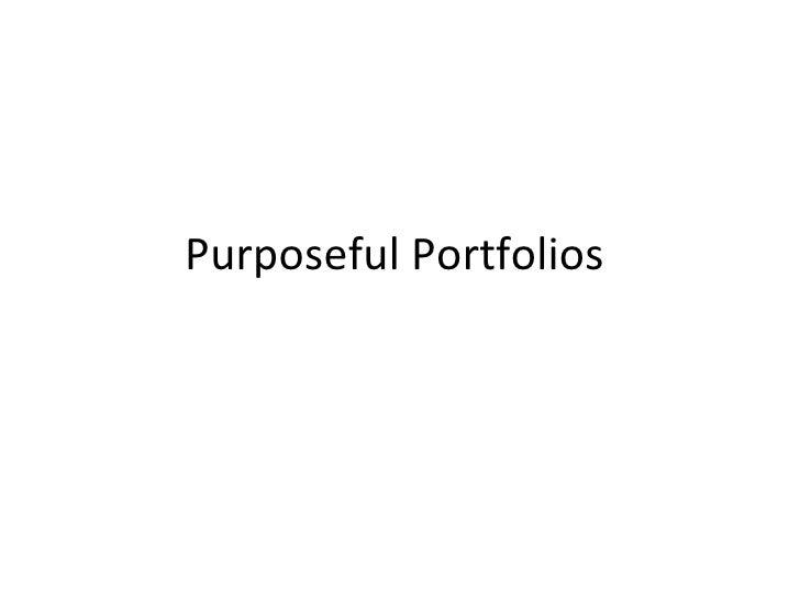 Purposeful Portfolios