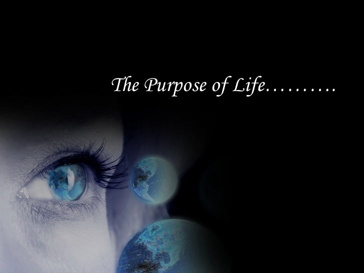 The Purpose of Life……….